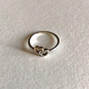 Pandora Double Heart Ring
